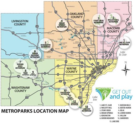 detroit county map county map  detroit michigan usa