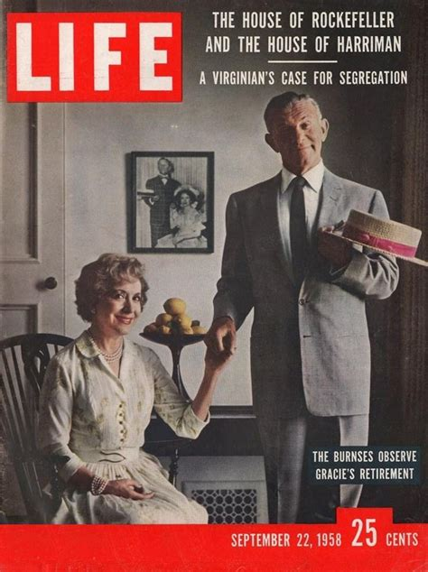 Gracie Allen And George Burns On The September 22 1958