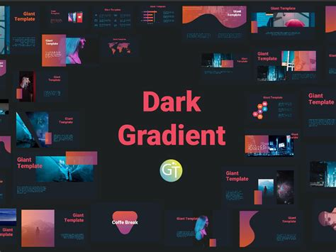 Dark Gradient Free Powerpoint Download Template by Giant ...