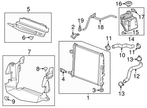 radiator components   cadillac ats