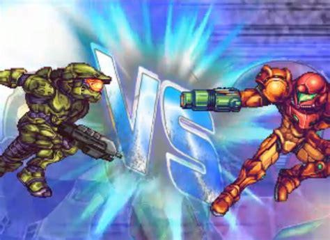 Master Chief Dominates Samus In A 16 Bit Deathmatch