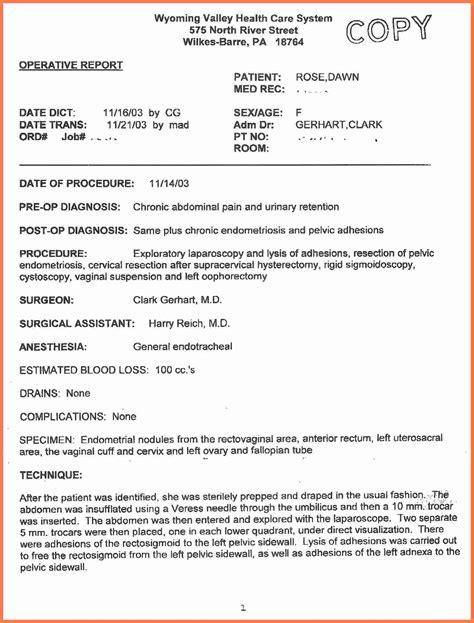 operative report marital settlements information