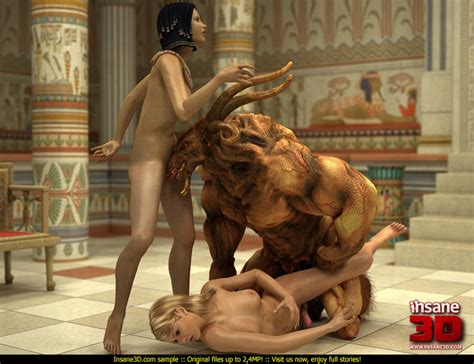 Egyptian Queen And Her Blonde Slave Girl Get Cartoon Sex Picture 3