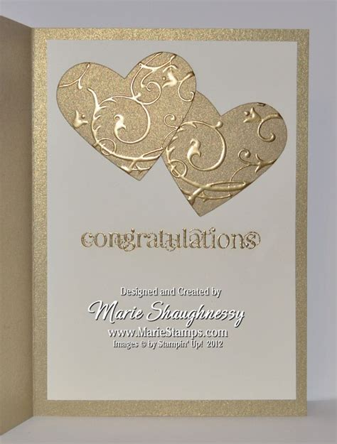 stamping inspiration  anniversary cards wedding