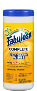 Disinfecting Wipes - Lemon Scent | Fabuloso® Complete