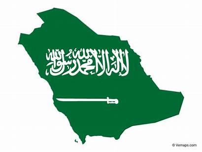 Saudi Flag Arabia Map Vector Maps Flags