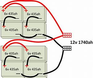 Is This Correct And A Good Design For 12v Battery Bank Of