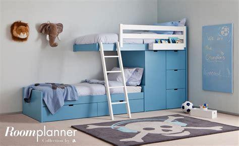 d馗o chambre d enfants chambre d 39 enfant bleue avec lits superposés design et rangements