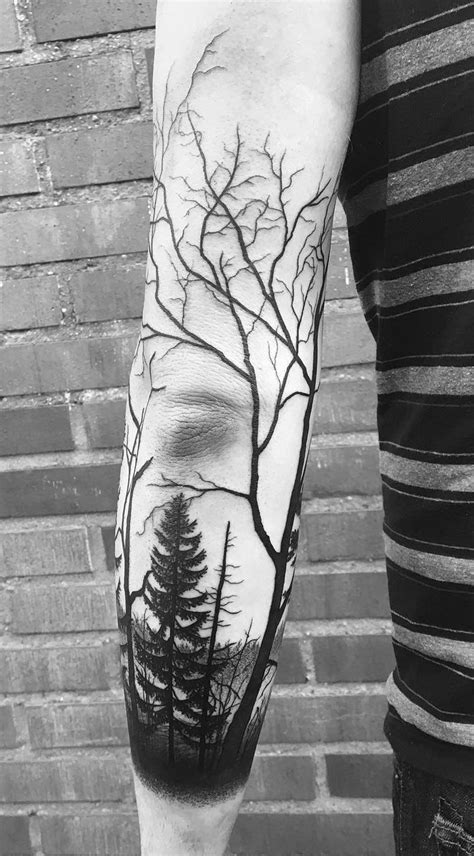 50 Gorgeous and Meaningful Tree Tattoos Inspired by Nature's Path | Sleeve tattoos, Tattoos