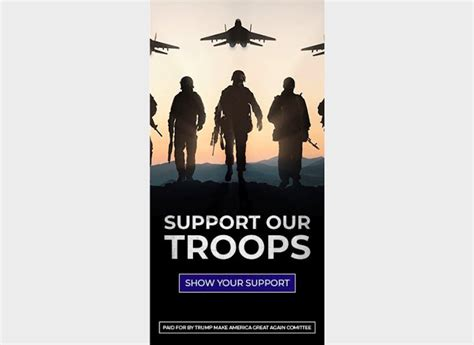 trump ad troops russian support mig campaign uses jet fail fighter fighters election patriotic
