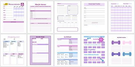 weight loss planner templates createful journals