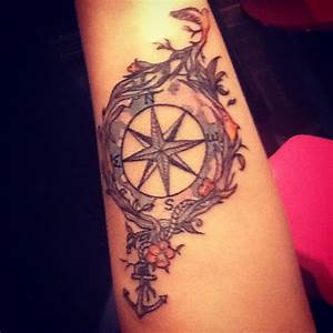 Tattoo Kompass Anker : compass tattoo like the anchor and bird tattoos pinterest tattoo ideen ~ Frokenaadalensverden.com Haus und Dekorationen