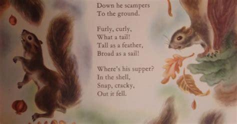 whisky frisky squirrel vintage original print  poem