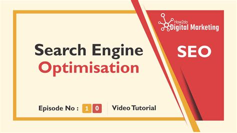 Search Engine Optimization Tutorial by Search Engine Optimization Tutorial Learn How To Do Seo
