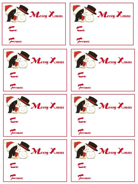 christmas gift tag templates free printable new calendar template site
