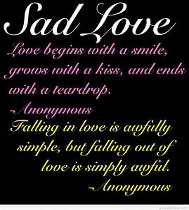 Cute Sad Love H... Sad Sad Love Quotes