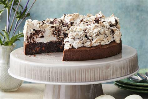 fudgy chocolate meringue cake recipe  idea food