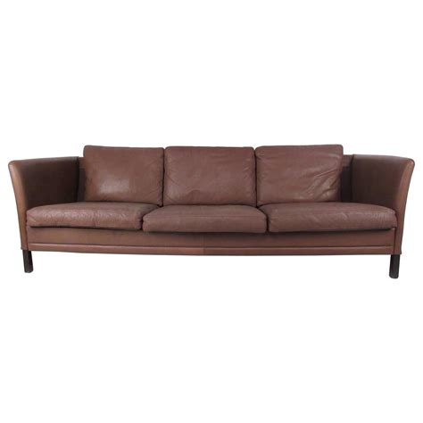 mid century leather sofa impressive mid century danish modern leather sofa for sale