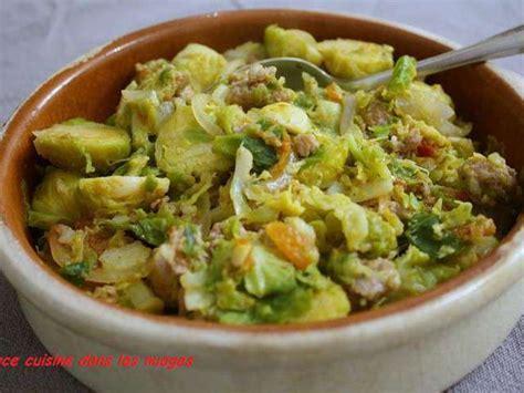 cuisine choux recettes de choux de bruxelles et saucisse