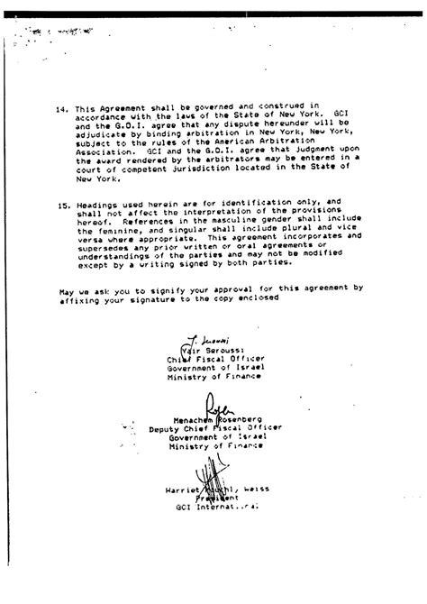surat perjanjian antara kerajaan bn kerajaan israel