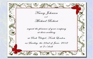 Invitation wedding cards sample chatterzoom for Sample wedding invitations pdf