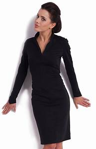robe noire manches longues km km0821 idresstocode With robe noire manches longues