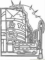 Coloring London Booth Telephone England Ausmalbilder Stadt Center Britain Template Kostenlos Kategorien Aehnliche sketch template