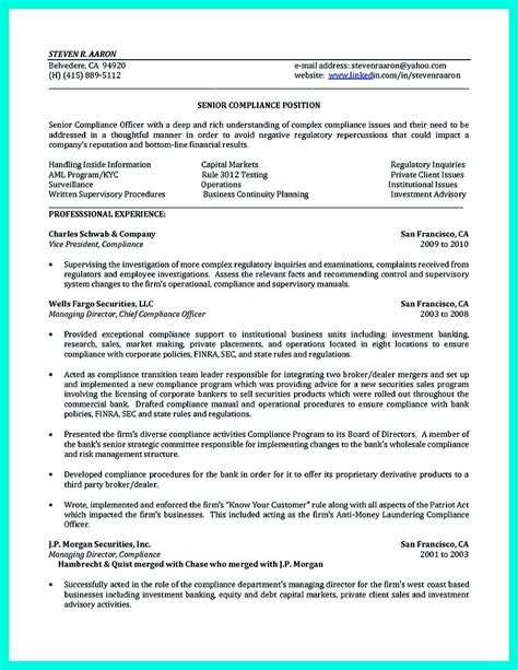 best compliance officer resume to get manager s attention