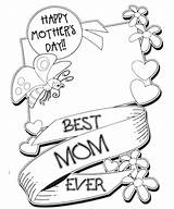 Coloring Mothers Pages Printable Happy Mother Sheets Mom Cards Colouring Adults Breakfast Books sketch template