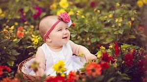Cute Baby Rose Garden Wallpaper Hd - Wallpapersfans.com