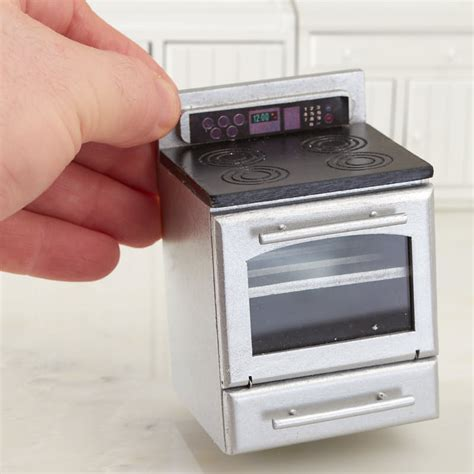 Dollhouse Miniature Silver Kitchen Stove   Kitchen