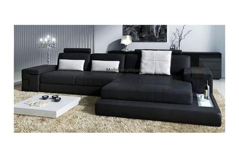 canapé d angle large assise canapé d 39 angle en cuir design avignon