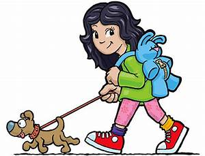 Cartoon Girl Walking - ClipArt Best