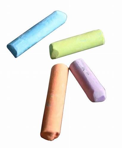 Chalk Transparent Pieces Background Clipart Simple Colorful