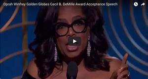 Oprah Winfrey's Golden Globes Speech • Tim Miles & Co.