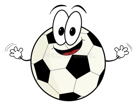 Happy Cartoon Soccer Ball Character Stock Illustration