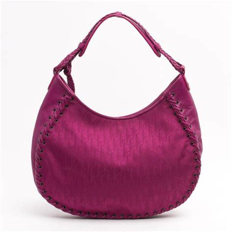 dior pink canvas monogram ethnic heart shoulder bag tradesy