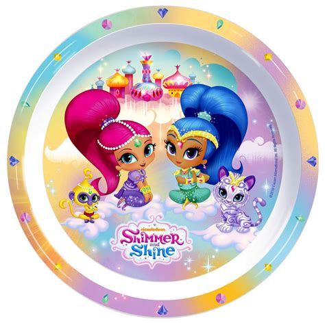 shimmer and shine l shimmer and shine 3 piece dinnerware set lunch bag land