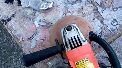 Thin set removal Diy homemade tool   YouTube