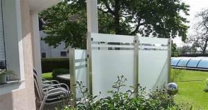 Windschutz Glas Terrasse : zaun gartenbau ~ Whattoseeinmadrid.com Haus und Dekorationen