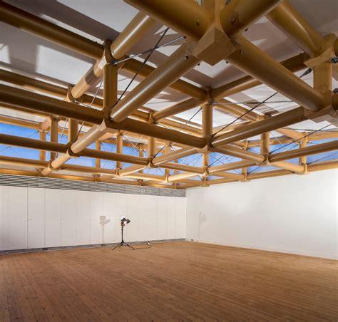 shigeru ban ie cardboard paper pavilion in madrid