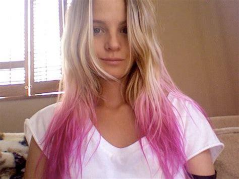 Pink Tips Hair Hair Colors Ideas