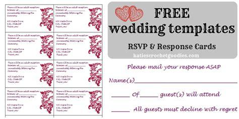 wedding rsvp response card template templat