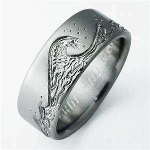 eastbourne 3 titanium ring with waves titanium wedding With men s wave wedding ring