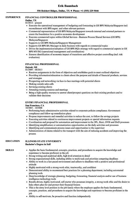 financial professional resume samples velvet jobs