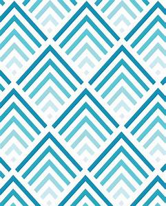 Shades of Blue - Chevron Pattern 8x10 inch Art Print. $17 ...