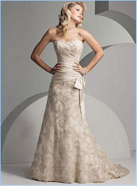 simple casual  elegant wedding dress  older bride