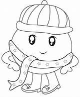 Scarf Coloring Humpy Dumpy Winter Pages Useful Dreamstime Illustration Getcolorings sketch template