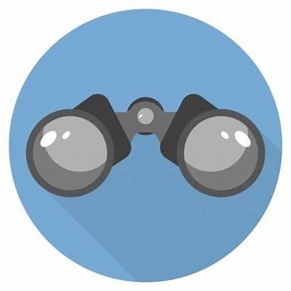 Binoculars Icon Flat Circle Illustration Shadow Depositphotos