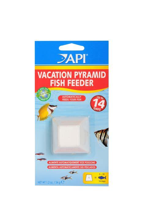 fish self feeder api vacation pyramid fish feeder